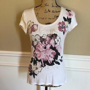 White House Black Market Embellished T-Shirt